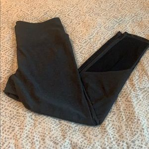 Zella gray and black mesh leggings, size S